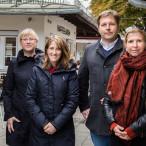 Ortstermin am Elisabethmarkt: Julia Schönfeld-Knor, Jens Röver und Ulrike Boesser von der SPD-Stadtratsfraktion sowie die örtliche SPD-Politikerin Renate Kürzdörfer, bald Mitglied der Fraktion.
